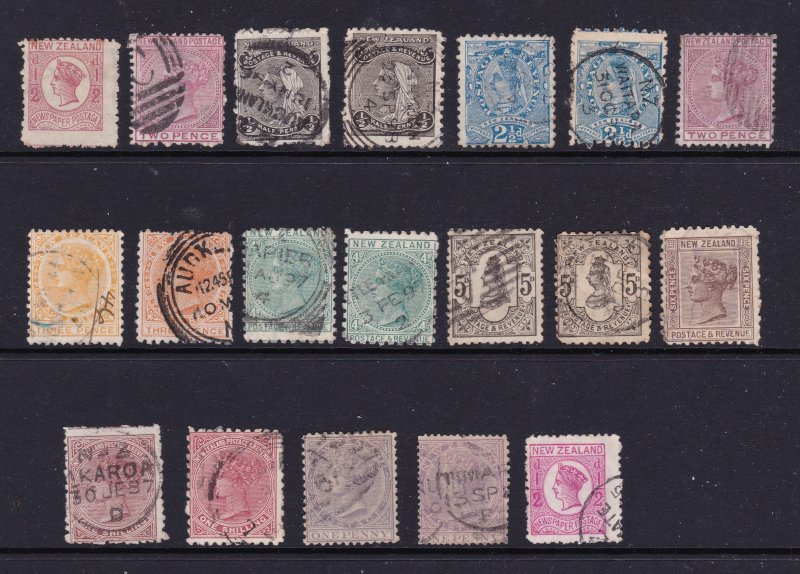 New Zealand a selection of mainly used later QV