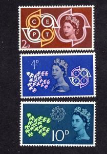 Great Britain  #382-384  1961  MNH CEPT