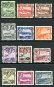 Antigua SG98/109 KGVI Set of 12 Wmk Mult Script CA M/M