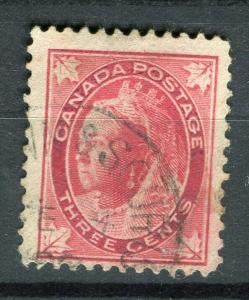 CANADA; 1898 early QV Maple Leaf issue fine used 3c. value