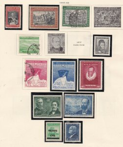 CHILE ^^^^^^1945-49   hinged & used  collection on page$$@ dca119xxbchle
