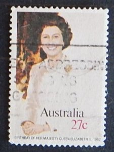 Australia, 1982 The 56th Anniversary of the Birth of Queen Elizabeth II, SC #825