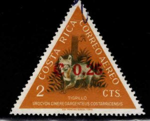 Costa Rica Scott C368 Used  surcharged stamp