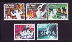 Iceland Sc 782-6 1994 Art & Culture stamp mint NH