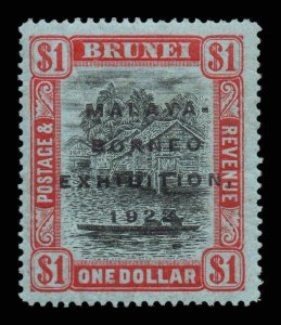 Brunei 1922 MALAYA BORNEO EX. $1 short I flaw SG 59a mint