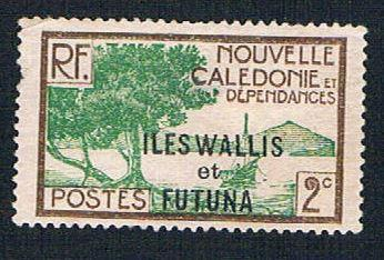 Wallis and Futuna 44 MLH New Caledonia overprint (BP1043)