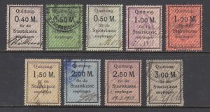 Germany, Prussia, 1920s Staatskasse Steuer Fee revenues, 9 different, sound