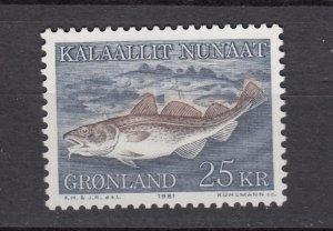 J26539  jlstamps 1981-6 greenland part of set mnh #140 codfish