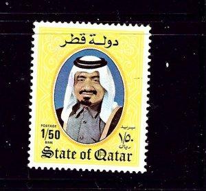 Qatar 655 Used 1984 issue  tiny bit of cancel
