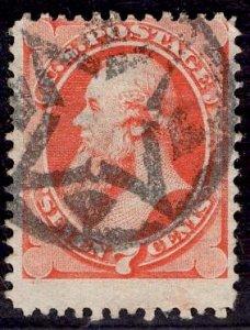 US Stamp #149 7c Vermillion Stanton USED SCV $90. Factastic Cancel.