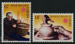 Belgium 946-7 MNH EUROPA, Potter, Basket Maker