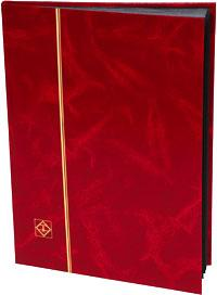 Lighthouse Stockbook Red Cover, 16 Black Pages, 01330