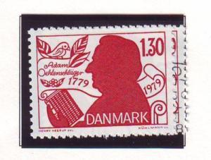 Denmark Sc 659 1979 Oehlenschlager stamp mint NH