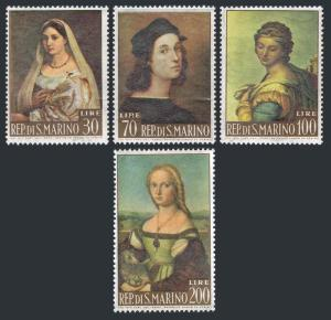 San Marino 550-553,MNH.Michel 760-763. Paintings by Raphael,1963.