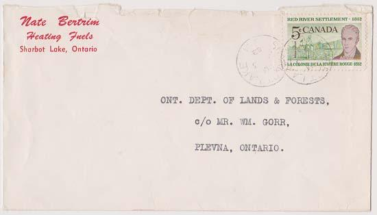 Canada #397i Fl. Paper 5c Red River Tied on Advertising First Day Cover