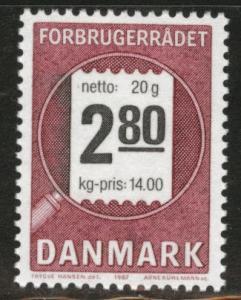 DENMARK  Scott 833 MNH** 1987 stamp