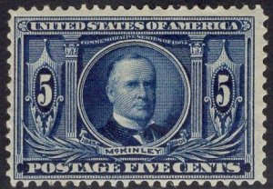US Stamp Scott #326 Mint Previously Hinged SCV $70