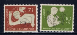 Germany B348-49 Hinged 1956 set
