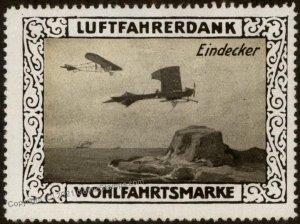 Germany Eindeckers WWI Air Force Memorial Luftfahrerdank Flight MNH  Cin G102825