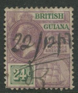 British Guiana - Scott 197- KGV Definitive -1921 - VFU - Single 24c Stamp