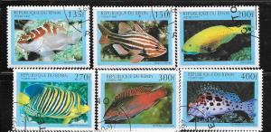 Benin #1073-1078 Fish  (CTO) CV $4.75