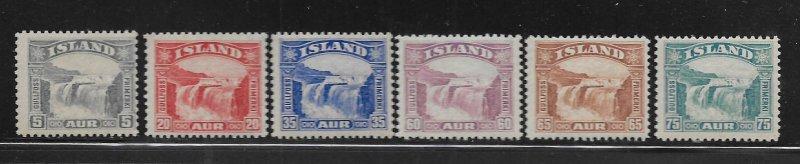 ICELAND, 170-175, HINGED, GULLFOSS (GOLDEN FALLS)