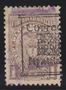 Colombia 1909 1p Brown Departmental Used. Scott L21