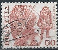 Switzerland 640 (used) 50c masked man of Laupen (1977)