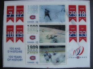 Canada Sc 2340 Montreal Canadiens souvenir sheet postally used check it out!