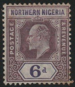 NORTHERN NIGERIA-1902 6d Dull Purple & Violet Sg 15 AVERAGE MOUNTED MINT V39376