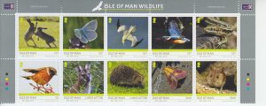 2019  Isle of Man Wildlife (B10 (Scott NA) MNH