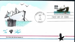 Beautiful Pugh Painted WW!! Liberty Ships FDC -only 191 created...