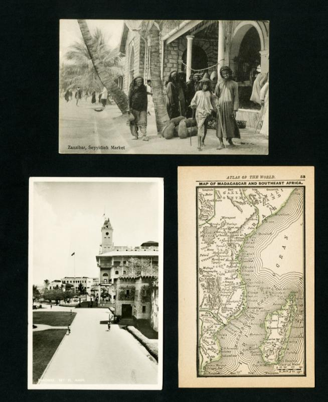 Zanzibar Cards 3x Early Picture Post Cards Rarely Offered VF