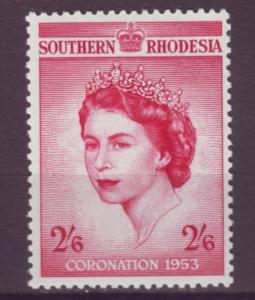 J20942 Jlstamps 1953 south rhodesia set of 1 mlh #80 royality