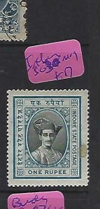 INDIA NATIVE STATE INDORE    (PP0309B)  1R  SG 30   MOG