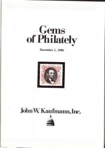 Kaufmann:    Gems of Philately, Kaufmann held Dec. 1, 1980