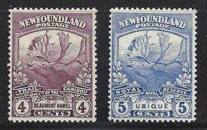 Newfoundland #118 119 OG VF