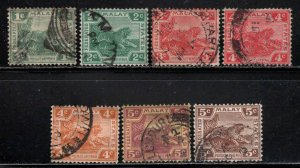 Malaya Federated States ~ 7 Different, Type A4 ~ Used, MX