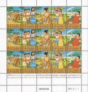 Palau - 1986 Christmas - 15 Stamp Sheet - Scott #117-21