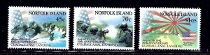 Norfolk Is 526-28 MNH 1992 WWII Anniv    (ap1846)