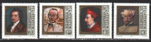 Liechtenstein. 1981. 784-87. Portraits of famous people, Cardinal, Goethe. MNH.