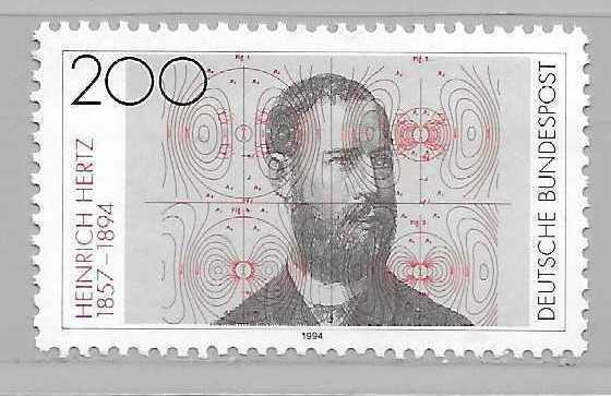 Germany 1822 Heinrich Hertz single MNH