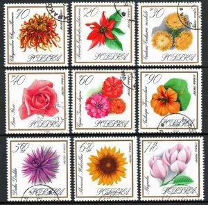 Poland 1430-1438, CTO. Flowers. Chrysanthemum, Poinsettia, Centaury, Rose, 1966