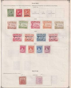 NAURU AND NEVIS - INTERESTING MINT COLLECTION REMOVED FROM ALBUM PAGE - X389