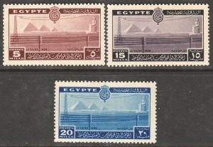 EGYPT 228-230, INTL. TELECOMMUNICATION CONF. UNUSED, H OG. F-VF. (401)
