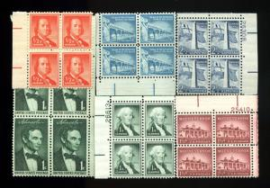 Lot of 1143 U.S. MNH Mint Never Hinged 1/2c - 2 1/2c Stamps #139397* X