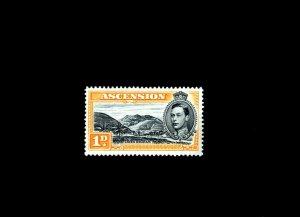 ASCENSION - 1944 - KG VI - GREEN MOUNTAIN - # 41A - MINT - MNH - SINGLE!