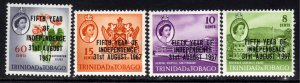 Trinidad & Tobago 1967 QE2 Set 5th Independence MM SG 318 - 321 ( J78 )