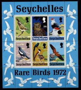 SEYCHELLES QEII SG MS314, 1972 rare birds mini sheet, NH MINT. Cat £22.