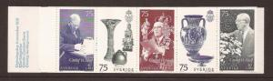 1972 Sweden - Sc 985a - MNH VF - Complete Book - 90th birthday of King Gustaf VI